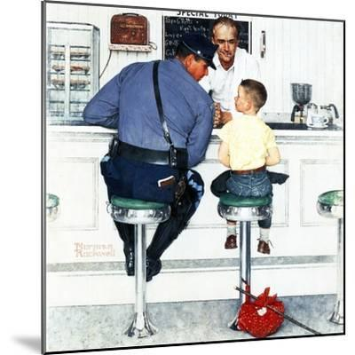 """Runaway"", September 20,1958-Norman Rockwell-Mounted Premium Giclee Print"