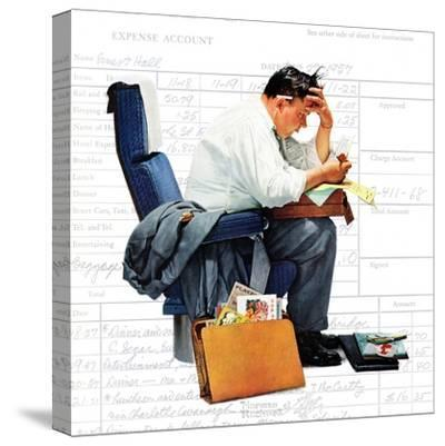 """Balancing the Expense Account"", November 30,1957-Norman Rockwell-Stretched Canvas Print"