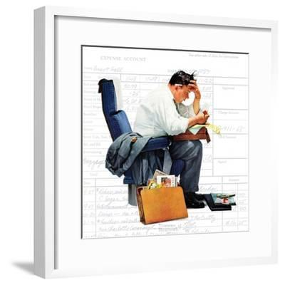 """Balancing the Expense Account"", November 30,1957-Norman Rockwell-Framed Premium Giclee Print"