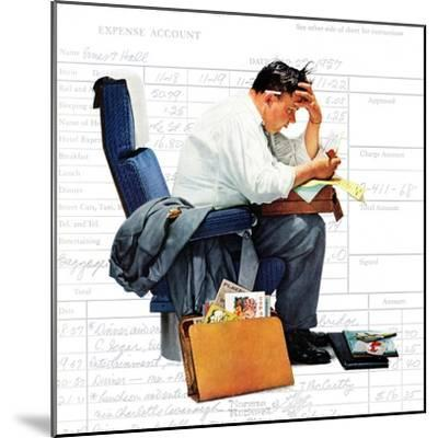 """Balancing the Expense Account"", November 30,1957-Norman Rockwell-Mounted Premium Giclee Print"