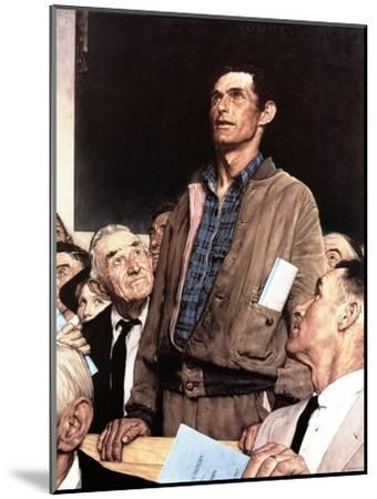 """""""Freedom Of Speech"""", February 21,1943-Norman Rockwell-Mounted Giclee Print"""