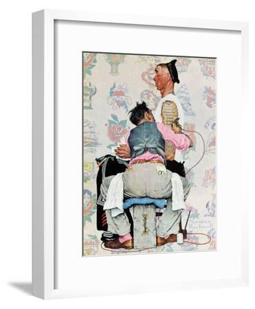 """Tattoo Artist"", March 4,1944-Norman Rockwell-Framed Premium Giclee Print"