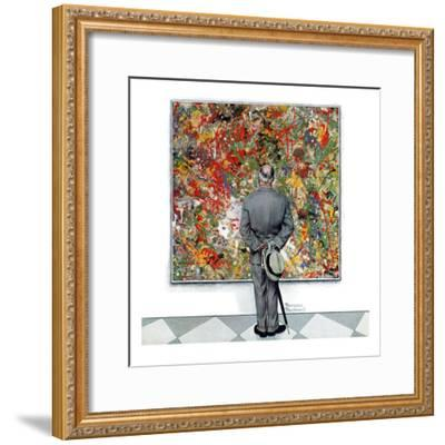 """Art Connoisseur"", January 13,1962-Norman Rockwell-Framed Premium Giclee Print"