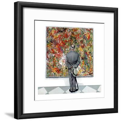 """Art Connoisseur"", January 13,1962-Norman Rockwell-Framed Giclee Print"