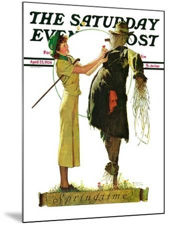 """""""Springtime, 1936"""" Saturday Evening Post Cover, April 25,1936-Norman Rockwell-Mounted Giclee Print"""