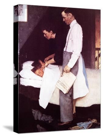 """""""Freedom From Fear"""", March 13,1943-Norman Rockwell-Stretched Canvas Print"""