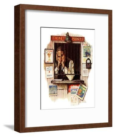 """Ticket Agent"", April 24,1937-Norman Rockwell-Framed Giclee Print"