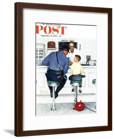 """Runaway"" Saturday Evening Post Cover, September 20,1958-Norman Rockwell-Framed Premium Giclee Print"