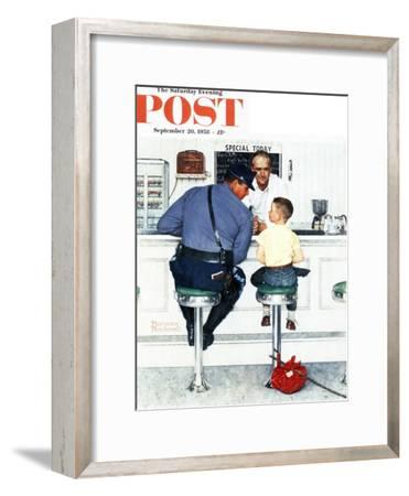 """""""Runaway"""" Saturday Evening Post Cover, September 20,1958-Norman Rockwell-Framed Giclee Print"""