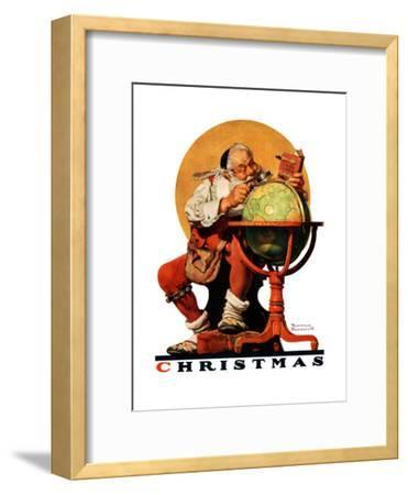 """Santa at the Globe"", December 4,1926-Norman Rockwell-Framed Giclee Print"