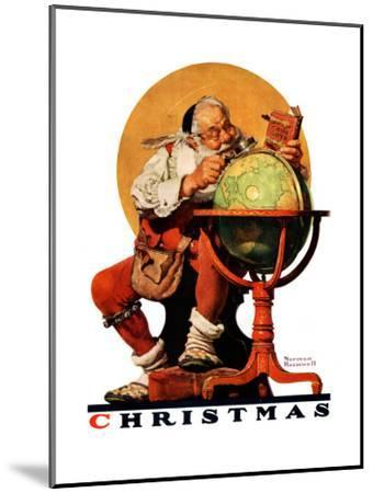 """Santa at the Globe"", December 4,1926-Norman Rockwell-Mounted Giclee Print"