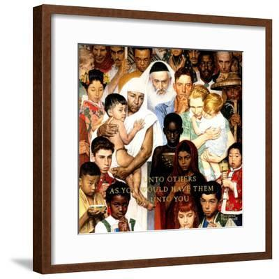 """Golden Rule"" (Do unto others), April 1,1961-Norman Rockwell-Framed Giclee Print"