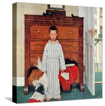 """Truth about Santa"" or ""Discovery"", December 29,1956-Norman Rockwell-Stretched Canvas Print"