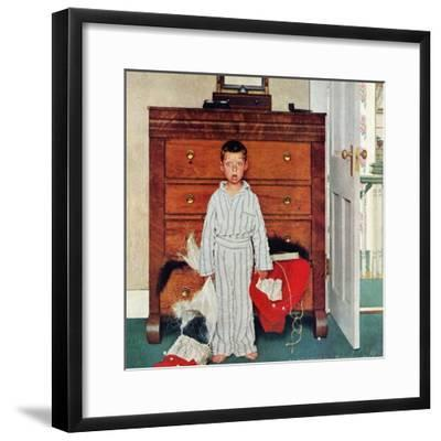 """Truth about Santa"" or ""Discovery"", December 29,1956-Norman Rockwell-Framed Giclee Print"