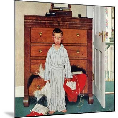 """Truth about Santa"" or ""Discovery"", December 29,1956-Norman Rockwell-Mounted Giclee Print"