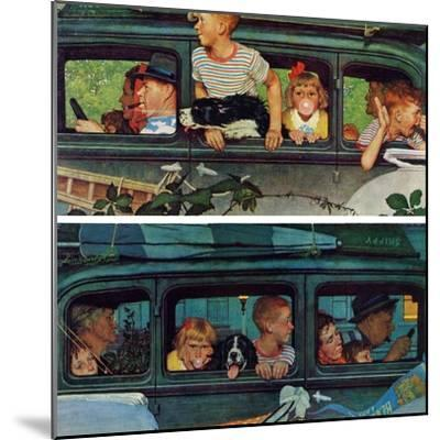 """""""Outing"""" or """"Coming and Going"""", August 30,1947-Norman Rockwell-Mounted Giclee Print"""