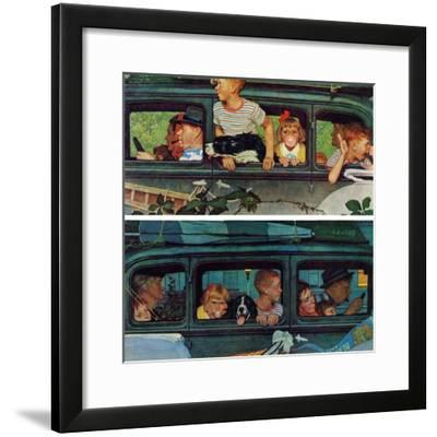 """""""Outing"""" or """"Coming and Going"""", August 30,1947-Norman Rockwell-Framed Giclee Print"""