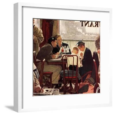 """Saying Grace"", November 24,1951-Norman Rockwell-Framed Premium Giclee Print"