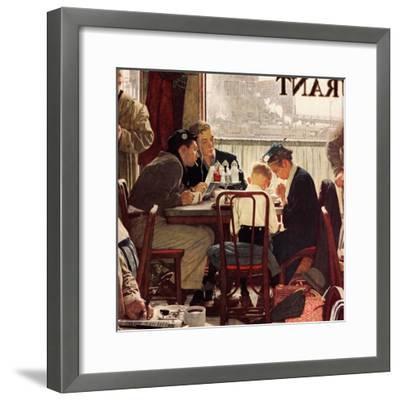 """Saying Grace"", November 24,1951-Norman Rockwell-Framed Giclee Print"