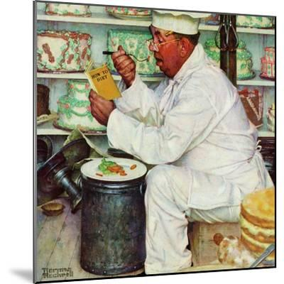 """""""How to Diet"""", January 3,1953-Norman Rockwell-Mounted Premium Giclee Print"""