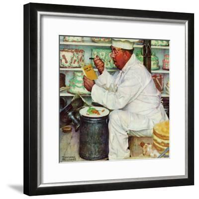 """""""How to Diet"""", January 3,1953-Norman Rockwell-Framed Premium Giclee Print"""