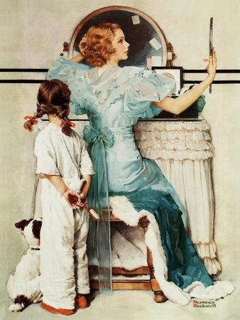 """""""Going Out"""", October 21,1933-Norman Rockwell-Premium Giclee Print"""