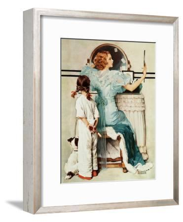 """Going Out"", October 21,1933-Norman Rockwell-Framed Giclee Print"