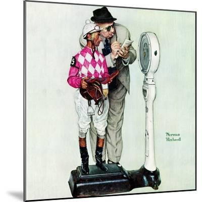 """""""Jockey Weighing In"""", June 28,1958-Norman Rockwell-Mounted Giclee Print"""