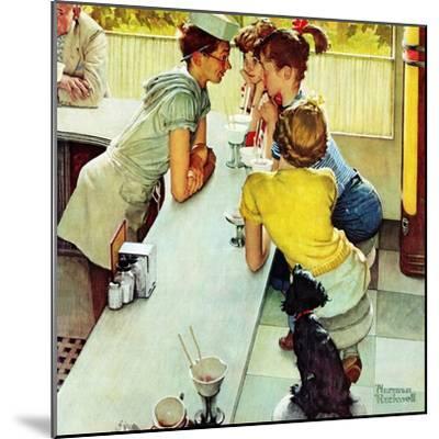 """Soda Jerk"", August 22,1953-Norman Rockwell-Mounted Premium Giclee Print"