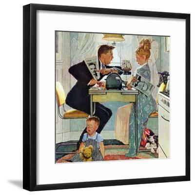 """Dewey v. Truman"", October 30,1948-Norman Rockwell-Framed Premium Giclee Print"