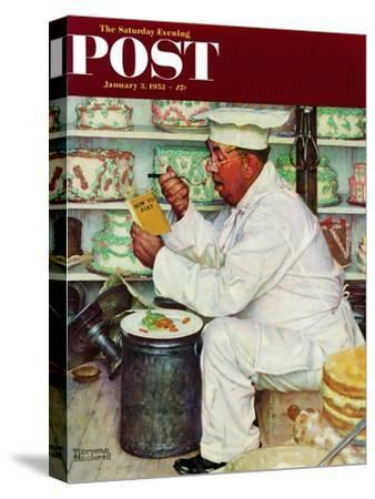 """""""How to Diet"""" Saturday Evening Post Cover, January 3,1953-Norman Rockwell-Stretched Canvas Print"""