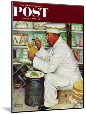 """""""How to Diet"""" Saturday Evening Post Cover, January 3,1953-Norman Rockwell-Mounted Giclee Print"""