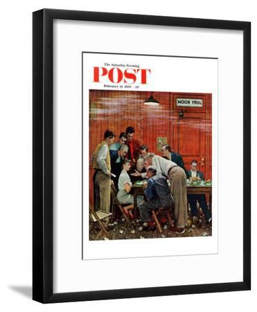 """Jury"" or ""Holdout"" Saturday Evening Post Cover, February 14,1959-Norman Rockwell-Framed Premium Giclee Print"