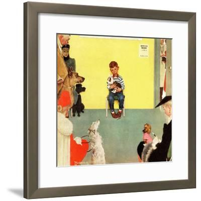 """""""At the Vets"""", March 29,1952-Norman Rockwell-Framed Giclee Print"""