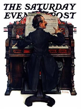 """""""Wedding March"""" Saturday Evening Post Cover, June 23,1928-Norman Rockwell-Framed Giclee Print"""