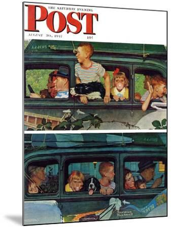 """""""Outing"""" or """"Coming and Going"""" Saturday Evening Post Cover, August 30,1947-Norman Rockwell-Mounted Giclee Print"""