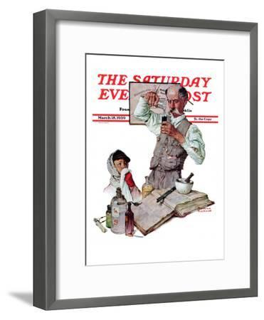Pharmacist Saay Evening Post Cover March 18 1939 Norman Rockwell