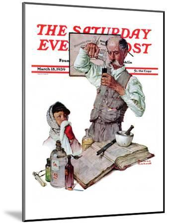 Pharmacist Saay Evening Post Cover March 18 1939 Norman Rockwell Mounted Giclee Print