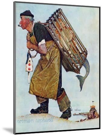 """Mermaid"" or ""Lobsterman"", August 20,1955-Norman Rockwell-Mounted Premium Giclee Print"