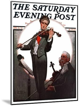 """Violin Virtuoso"" Saturday Evening Post Cover, April 28,1923-Norman Rockwell-Mounted Giclee Print"