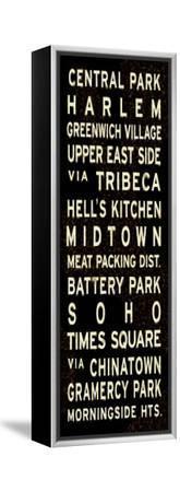 Central Park Weathered Sign--Framed Stretched Canvas Print