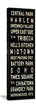 Central Park Weathered Sign--Stretched Canvas Print