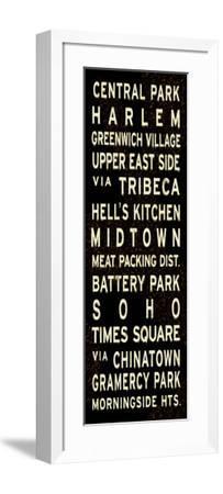 Central Park Weathered Sign--Framed Art Print