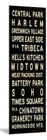 Central Park Weathered Sign--Mounted Art Print
