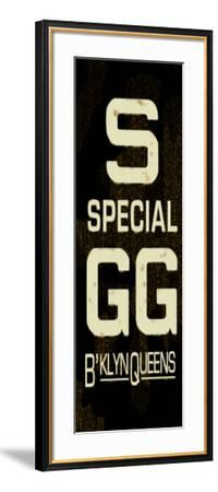 S Special Weathered Sign--Framed Art Print