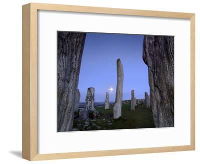 The Callanish Stones at Moonrise-Jim Richardson-Framed Photographic Print