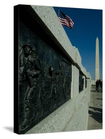 World War II Memorial-Todd Gipstein-Stretched Canvas Print