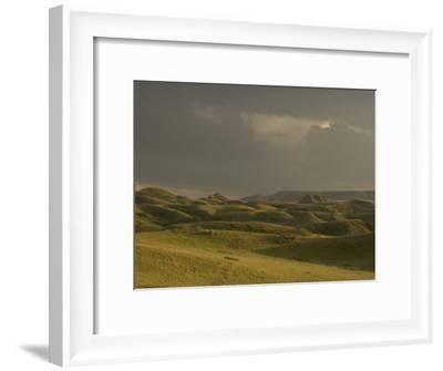 Thunderclouds Gather Above Little Missouri National Grasslands-Phil Schermeister-Framed Photographic Print