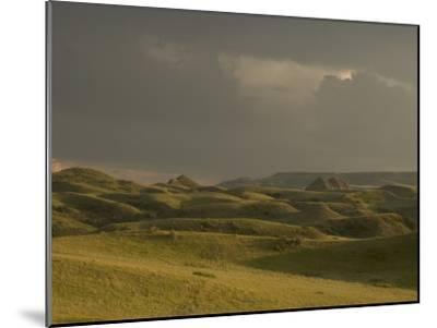 Thunderclouds Gather Above Little Missouri National Grasslands-Phil Schermeister-Mounted Photographic Print