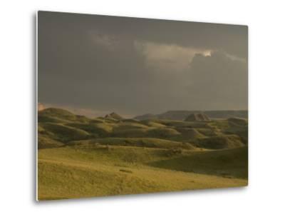 Thunderclouds Gather Above Little Missouri National Grasslands-Phil Schermeister-Metal Print